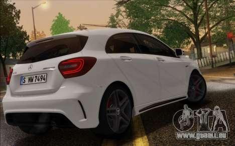 Mercedes-Benz A45 AMG pour GTA San Andreas vue intérieure