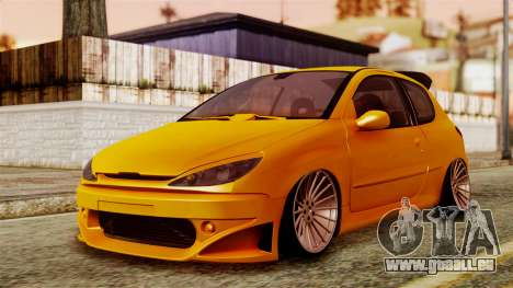 Peugeot 206 Camber Style pour GTA San Andreas