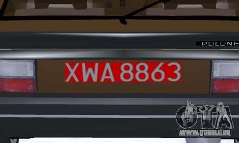 FSO Polonez 2.0X Coupe pour GTA San Andreas vue de dessus