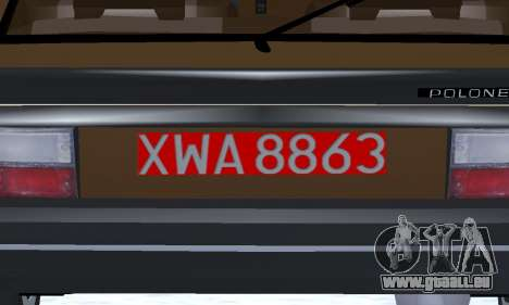 FSO Polonez 2.0X Coupe für GTA San Andreas obere Ansicht