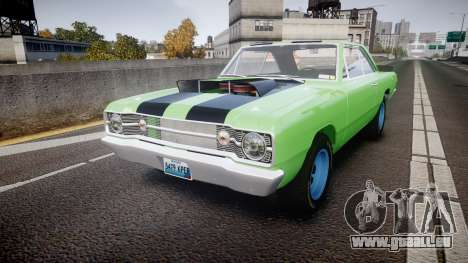 Dodge Dart HEMI Super Stock 1968 rims3 pour GTA 4