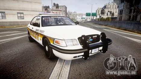 Ford Crown Victoria Sheriff Liberty [ELS] pour GTA 4
