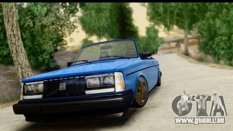 Volvo 242 Cabrio pour GTA San Andreas sur la vue arrière gauche
