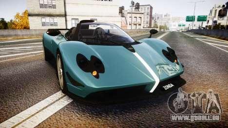 Pagani Zonda Cinque Roadster 2010 pour GTA 4