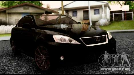 Lexus IS-F pour GTA San Andreas vue arrière