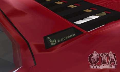 Fiat Bertone X1 9 für GTA San Andreas Unteransicht