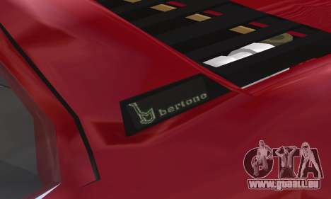 Fiat Bertone X1 9 pour GTA San Andreas vue de dessous