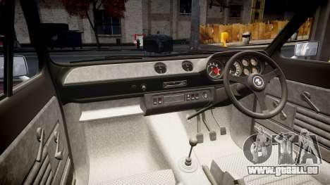Ford Escort RS1600 PJ22 für GTA 4 Innenansicht
