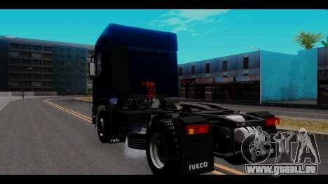 Iveco Eurotech pour GTA San Andreas sur la vue arrière gauche