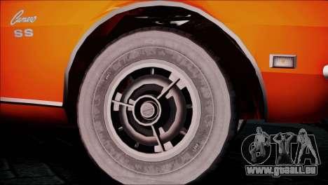 Chevrolet Camaro 350 für GTA San Andreas zurück linke Ansicht