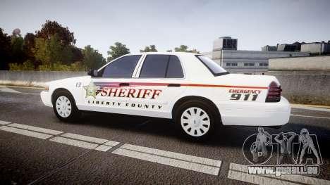 Ford Crown Victoria Sheriff [ELS] rims2 für GTA 4 linke Ansicht