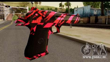 Red Tiger Desert Eagle für GTA San Andreas zweiten Screenshot