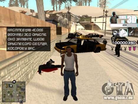C-HUD 3D pour GTA San Andreas troisième écran