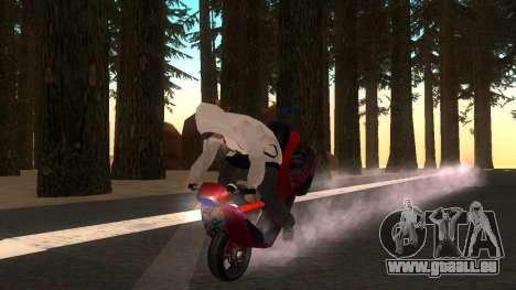 Faggio Stunt pour GTA San Andreas vue de droite