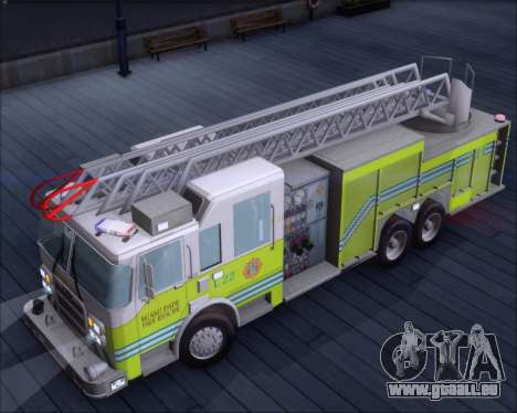 Pierce Arrow XT Miami Dade FD Ladder 22 pour GTA San Andreas vue arrière