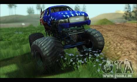 Monster The Liberator (GTA V) pour GTA San Andreas sur la vue arrière gauche
