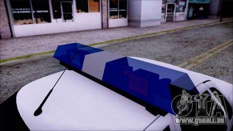Lada Priora 2170 de la police de la MIA de Russi pour GTA San Andreas vue de droite