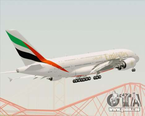 Airbus A380-800 Emirates (A6-EDH) pour GTA San Andreas vue de dessus