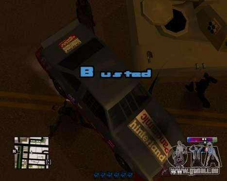 Space C-HUD v2.0 pour GTA San Andreas deuxième écran