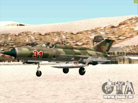 MiG 21 der sowjetischen Luftwaffe für GTA San Andreas