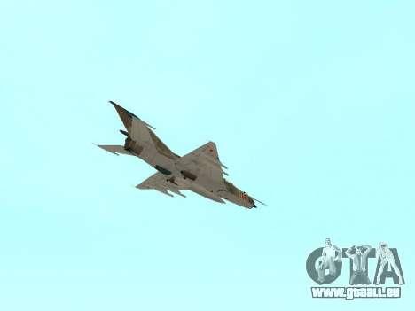 MiG 21 der sowjetischen Luftwaffe für GTA San Andreas Unteransicht