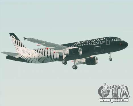 Airbus A320-200 Air New Zealand für GTA San Andreas Unteransicht