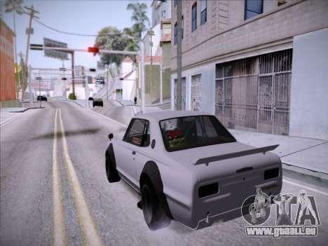 Nissan Skyline 2000 GT-R Drift Edition pour GTA San Andreas vue arrière