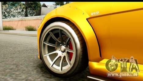 GTA 5 Benefactor Schwartzer SA Mobile für GTA San Andreas zurück linke Ansicht