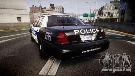 Ford Crown Victoria Police Algonquin [ELS] pour GTA 4 Vue arrière de la gauche