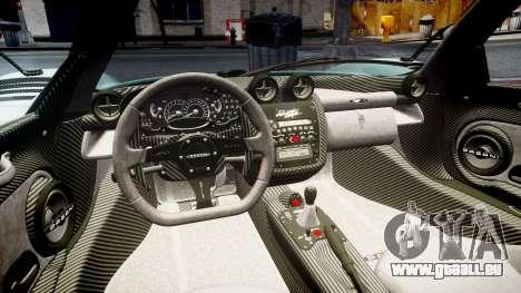 Pagani Zonda Cinque Roadster 2010 für GTA 4 Seitenansicht