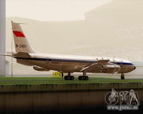 Boeing 707-300 CAAC pour GTA San Andreas vue de droite