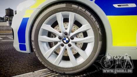 BMW 525d F11 2014 Metropolitan Police [ELS] pour GTA 4 Vue arrière