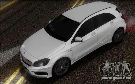 Mercedes-Benz A45 AMG pour GTA San Andreas vue arrière