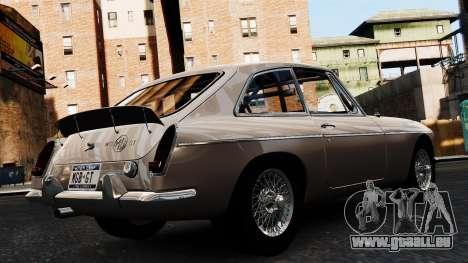 MGB GT 1965 pour GTA 4 est une gauche