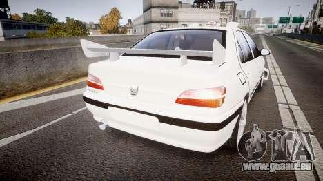 Peugeot 406 Taxi [Final] pour GTA 4 Vue arrière de la gauche