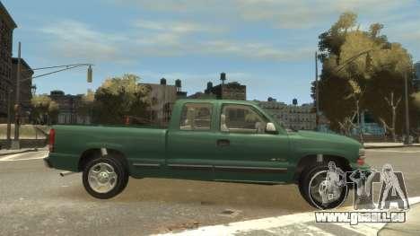 Chevrolet Silverado 1500 pour GTA 4 est une vue de l'intérieur
