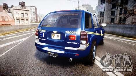 Chevrolet Trailblazer Virginia State Police ELS pour GTA 4 Vue arrière de la gauche