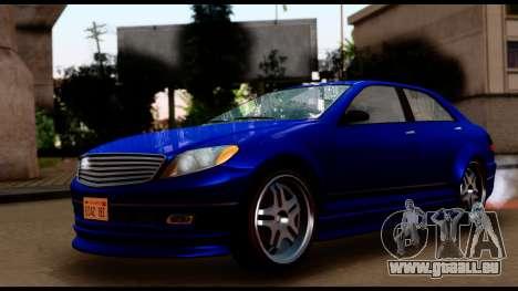 GTA 5 Schafter Bumper pour GTA San Andreas sur la vue arrière gauche