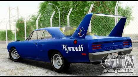 Plymouth Roadrunner Superbird RM23 1970 HQLM für GTA San Andreas zurück linke Ansicht