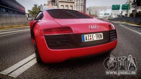 Audi R8 E-Tron 2014 dual tone für GTA 4 hinten links Ansicht
