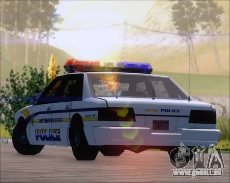 Police LS Metropolitan Police für GTA San Andreas Innenansicht