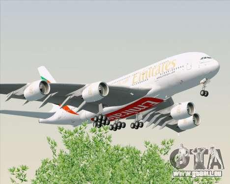 Airbus A380-800 Emirates (A6-EDH) pour GTA San Andreas vue arrière