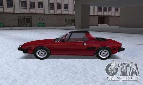 Fiat Bertone X1 9 pour GTA San Andreas laissé vue