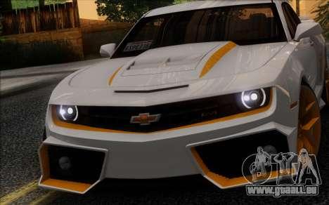 Chevrolet Camaro VR (IVF) pour GTA San Andreas laissé vue
