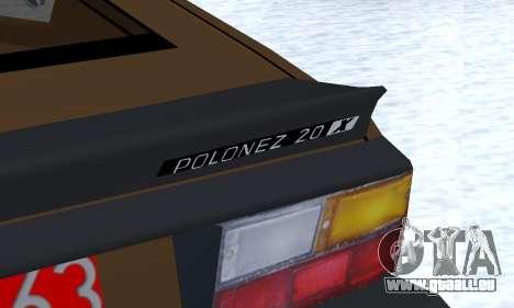 FSO Polonez 2.0X Coupe pour GTA San Andreas vue de côté