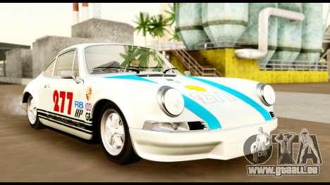 Porsche 911 Carrera 2.7RS Coupe 1973 Tunable für GTA San Andreas obere Ansicht