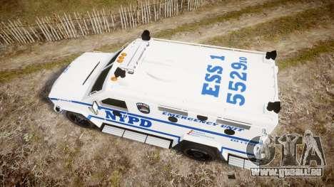 Lenco BearCat NYPD ESU [ELS] für GTA 4 rechte Ansicht