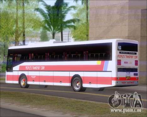Nissan Diesel UD Peoples Transport Corporation für GTA San Andreas Rückansicht
