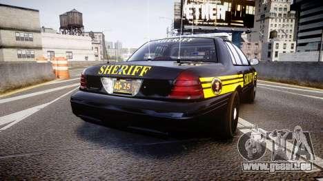 Ford Crown Victoria Sheriff [ELS] black für GTA 4 hinten links Ansicht