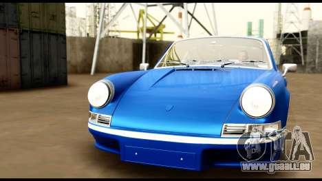Porsche 911 Carrera 2.7RS Coupe 1973 Tunable pour GTA San Andreas vue de dessous